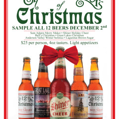 12 Beers of Christmas Chicago poster design