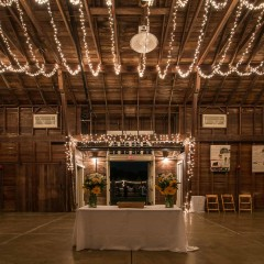 Barn decorations for the farm dinner - event photography