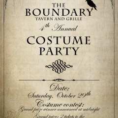 Boundary Chicago costume party ad design