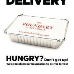 Boundary Chicago food delivery ad design