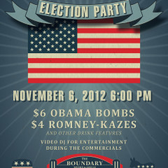 Boundary Chicago election party poster designer Adam Flikkema