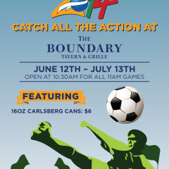 Boundary Chicago restaurant World Cup poster design