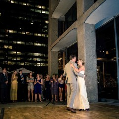 Bride and groom dance chicago wedding photography