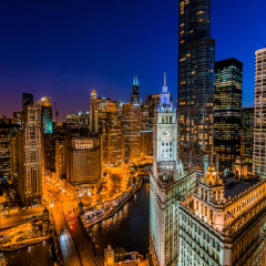 Chicago Michigan Ave skyline photography