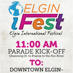 Elgin iFest advertisement and logo design