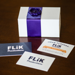 Flik Productions Business card print design