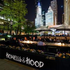 Howells and Hood outdoor patio Chicago nightlife