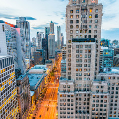 Intercontinental Chicago Magnificent Mile Hotel skyline photography