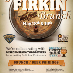 Old Town Pour House Chicago great firkin brunch poster design