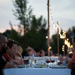 Outdoor farm dinner party - Chicago and Elgin photography