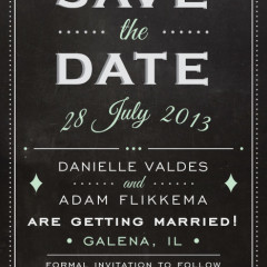 Save the date Adam and Danielle Flikkema design