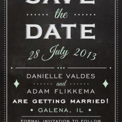 Save the date Adam and Danielle Flikkema design