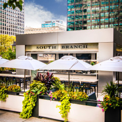 South Branch outdoor bar restaurant photography