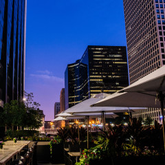 South Branch outdoor patio Chicago River