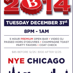 boundary Chicago New Years Eve 2014 poster design