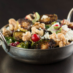 brussel sprout appetizer at Howells and Hood Chicago tribune tower restaurant
