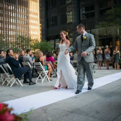 down the aisle Chicago wedding photography