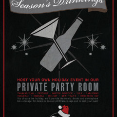 holiday parties for trace Chicago poster