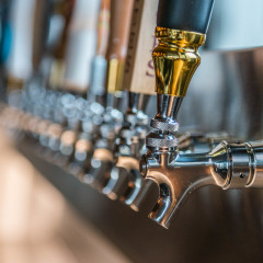 large beer tap selection at chicago restaurant