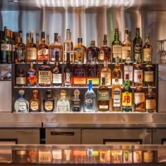 liquor shelf at a chicago restaurant