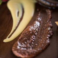 macro food photograph charcuterie plate
