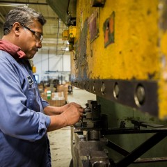 metal worker business portrait photography