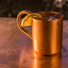 Moscow Mule cocktail photography
