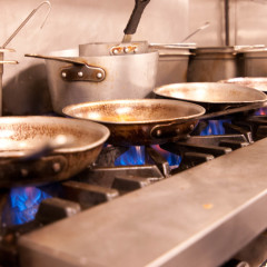 professional kitchen range photograph