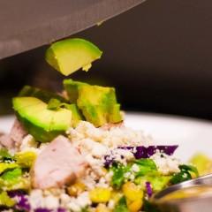 restaurant healthy salad action photo