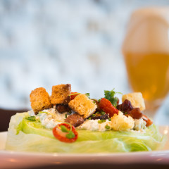 salad with beer creative photography