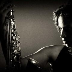 saxaphone dramatic pose musician portrait