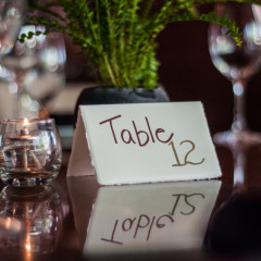 table setting reflection - event photography