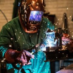 welding action shot Elgin people photography