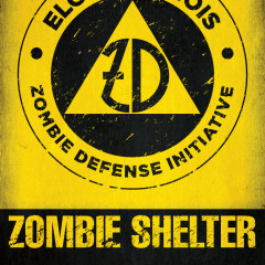 Zombie fallout poster and logo design Elgin Nightmare on Chicago Street